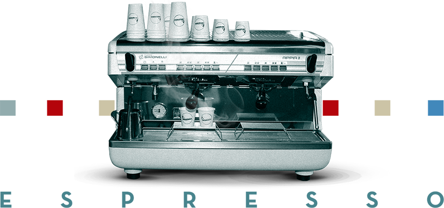 Foto de una máquina espresso simonelli
