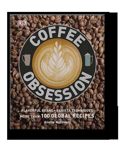 Tapa del libro Coffee Obsession con tecnicas para baristas