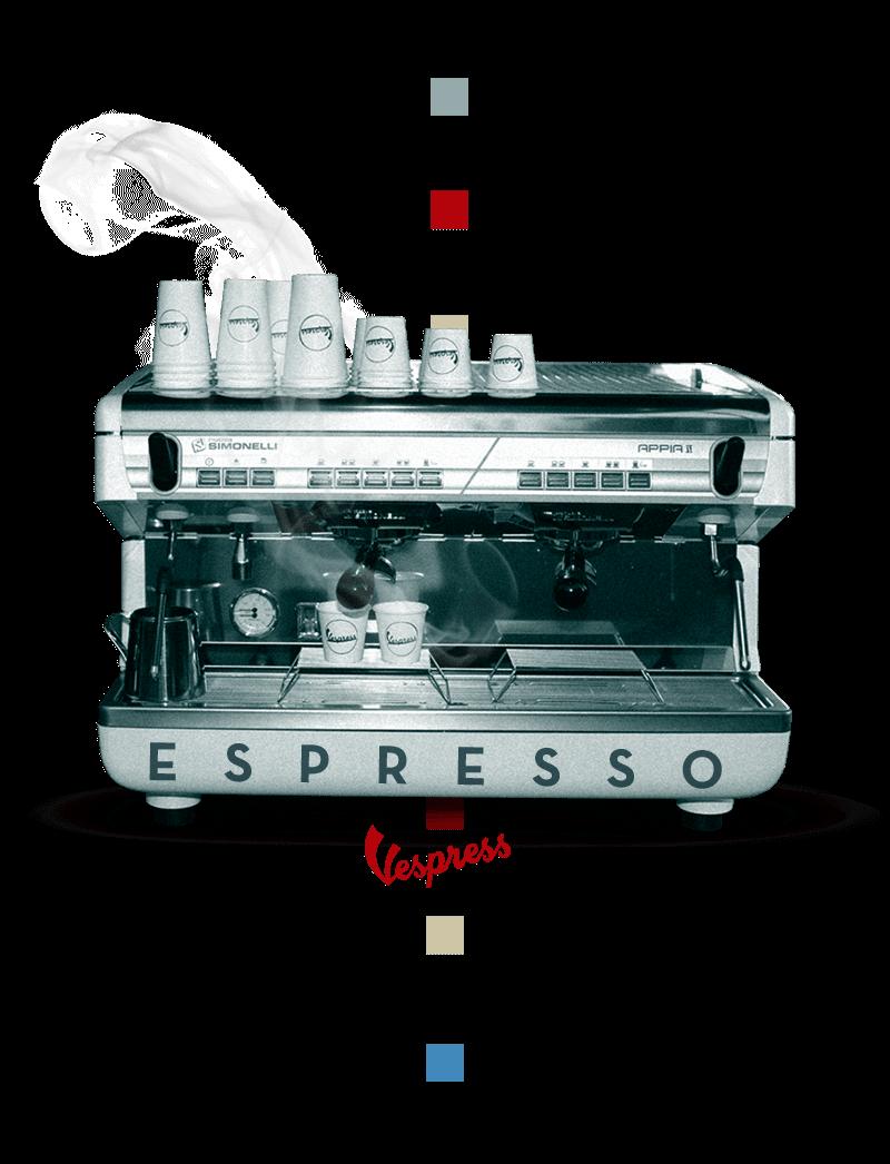 Logo de maquina de café para espresso italiano marca Simonelli