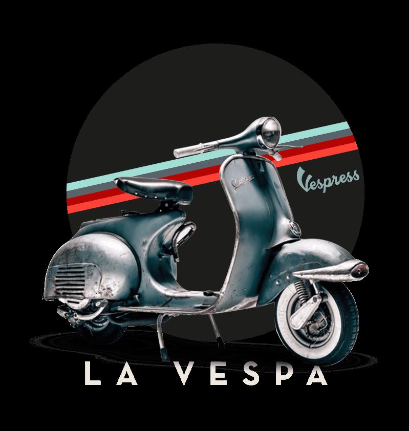 Logo de motocicleta Vespa ícono de Vespress
